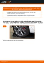Unterer Querlenker der Hinterachse selber wechseln: VW Golf 6 - Austauschanleitung