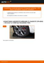 Hvordan skifter man Bærearm bag og foran VW GOLF VI (5K1) - manual online