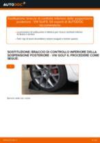 Come cambiare braccio di controllo inferiore della sospensione posteriore su VW Golf 6 - Guida alla sostituzione
