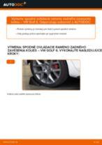 Ako vymeniť spodné ovládacie rameno zadného zavesenia kolies na VW Golf 6 – návod na výmenu