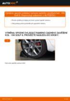 Jak vyměnit spodní ovládací rameno zadního zavěšení kol na VW Golf 6 – návod k výměně