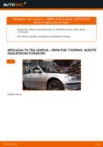 Kako zamenjati avtodel filter goriva na avtu BMW E46 touring – vodnik menjave