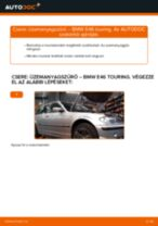 Üzemanyagszűrő-csere BMW E46 touring gépkocsin – Útmutató