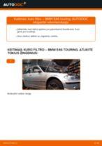 Kaip pakeisti BMW E46 touring kuro filtro - keitimo instrukcija