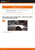 Cum să schimbați: filtru combustibil la BMW E46 touring | Ghid de înlocuire