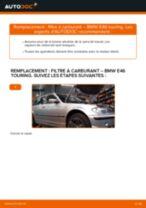 Comment changer : filtre à carburant sur BMW E46 touring - Guide de remplacement