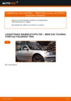 Udskift brændstoffilter - BMW E46 touring   Brugeranvisning