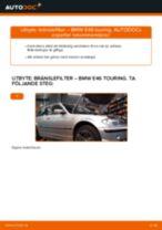 Byta bränslefilter på BMW E46 touring – utbytesguide