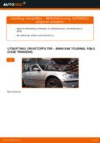 Slik bytter du drivstoffilter på en BMW E46 touring – veiledning