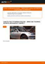 Kuinka vaihtaa polttoainesuodatin BMW E46 touring-autoon – vaihto-ohje