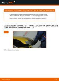 Wie der Wechsel durchführt wird: Luftfilter 1.0 (SCP10_) Toyota Yaris p1 tauschen