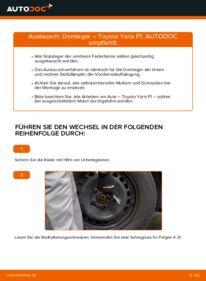 Wie der Wechsel durchführt wird: Domlager 1.0 (SCP10_) Toyota Yaris p1 tauschen
