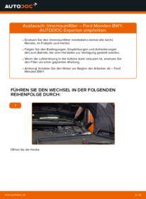 Wie der Wechsel durchführt wird: Innenraumfilter 2.0 16V Ford Mondeo bwy tauschen