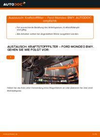 Wie der Wechsel durchführt wird: Kraftstofffilter 2.0 16V Ford Mondeo bwy tauschen