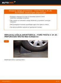 Kako izvesti menjavo: Ležaj Amortizerja na 1.4 TDCi Ford Fiesta V jh jd