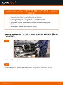 Kā veikt nomaiņu: BMW X5 Eļļas filtrs