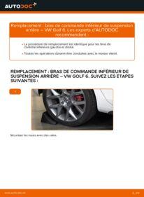 Comment effectuer un remplacement de Bras de Suspension sur 1.6 TDI VW Golf VI