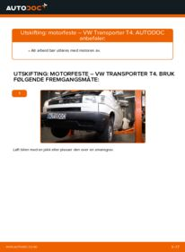 Slik bytter du Motorfeste på VW TRANSPORTER
