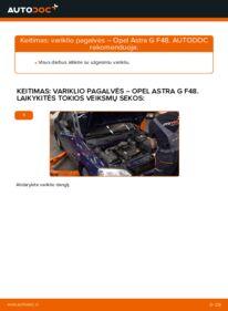 Kaip atlikti keitimą: 1.6 16V (F08, F48) Opel Astra g f48 Variklio montavimo rėmas