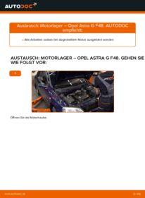 Wie der Wechsel durchführt wird: Motorlager 1.6 16V (F08, F48) Opel Astra g f48 tauschen