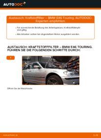 Wie der Wechsel durchführt wird: Kraftstofffilter 320d 2.0 BMW 3 Touring (E46) tauschen