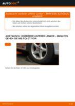 Wie BMW E39 vorderer unterer Lenker wechseln - Schritt für Schritt Anleitung