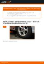 Comment changer : bras inférieur avant sur BMW E39 - Guide de remplacement