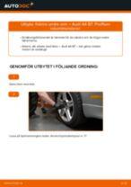 Byta främre undre arm på Audi A4 B7 – utbytesguide