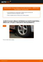 Como mudar braço inferior da parte dianteira em BMW E39 - guia de substituição