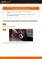 Kuidas vahetada ja reguleerida Õõtshoob AUDI A4: pdf juhend