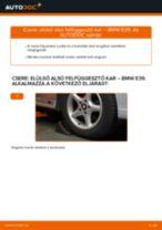 Elülső alsó felfüggesztő kar-csere BMW E39 gépkocsin – Útmutató