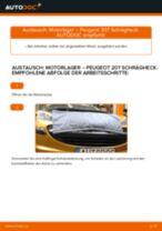 Online-Anleitung zum Motoraufhängung-Austausch am PEUGEOT 207 (WA_, WC_) kostenlos