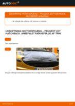 Udskiftning af Motorophæng: pdf vejledning til PEUGEOT 207