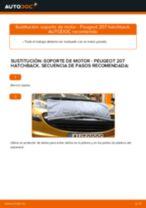 Cómo cambiar: soporte de motor de la parte trasera - Peugeot 207 hatchback | Guía de sustitución