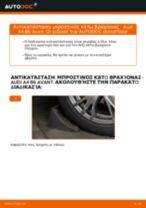 Πώς να αλλάξετε μπροστινός κάτω βραχίονας σε Audi A4 B6 Avant - Οδηγίες αντικατάστασης