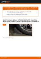 Como mudar braço inferior da parte dianteira em Audi A4 B6 Avant - guia de substituição