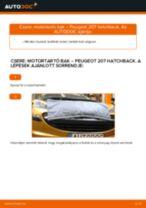 Hátsó motortartó bak-csere Peugeot 207 hatchback gépkocsin – Útmutató