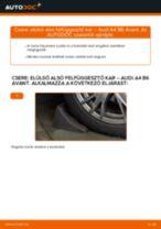 Elülső alsó felfüggesztő kar-csere Audi A4 B6 Avant gépkocsin – Útmutató