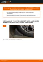 Hoe voorste onderste arm vervangen bij een Audi A4 B6 Avant – vervangingshandleiding