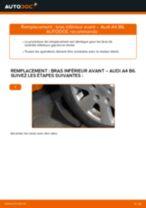 Comment changer : bras inférieur avant sur Audi A4 B6 - Guide de remplacement
