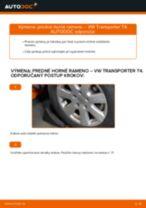 Ako vymeniť a regulovať Rameno Zavesenia Kolies VW TRANSPORTER: sprievodca pdf