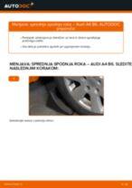 Vgraditi Vilica AUDI A4 (8E2, B6) - priročniki po korakih