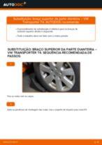 Como mudar braço superior da parte dianteira em VW Transporter T4 - guia de substituição