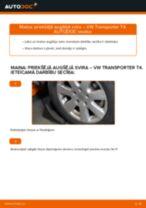 Kā nomainīt un noregulēt Svira VW TRANSPORTER: pdf ceļvedis