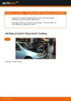 Kaip pakeisti ir sureguliuoti Stabdžių trinkelių komplektas FIAT PUNTO: pdf pamokomis