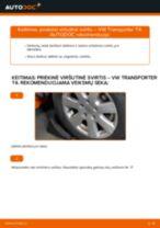 Nemokamos internetinės instrukcijos kaip atnaujinti Vikšro Valdymo Svirtis VW TRANSPORTER IV Bus (70XB, 70XC, 7DB, 7DW)