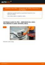 MERCEDES-BENZ ML Klasė remonto ir priežiūros instrukcija