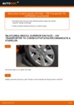 Cum se înlocuiesc și se ajustează Brat oscilant VW TRANSPORTER: manual pdf