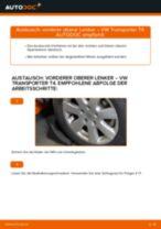 Austauschen von Dreieckslenker VW TRANSPORTER: PDF kostenlos
