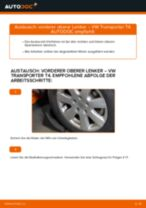 Schritt für Schritt Anweisungen zur Fehlerbehebung für VW Querlenker oben vorne/hinten